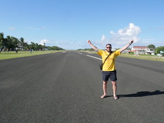 Walking around on Funafuti airport!