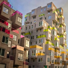 Never Promised You a Rose Garden (Paul Brouns) Tags: square windows balconies corners colorful colour color rhythm geometry urban city south zuidas paulbrounscom paulbrouns amsterdam architecture