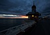 Ominous clouds at the North Pier (sussexscorpio) Tags: outdoors clouds dusk sunset pier northpier blackpool canon canon60d colours beach seaside sky irishsea coast sea seafront seascape