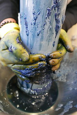 Indigo Dye Workshop at Refold, Hotwalls Studios, Portsmouth (Claire_Sambrook) Tags: indigo hotwallsstudios portsmouth studios creative shibori dye workshop refold alexhagen