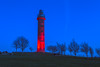 Red Tower at NIght (Ronan McCormick) Tags: ilobsterit 2016 landscape winter bluemoment canon commons dusk hill ireland kells light lighthouse lloyd loyd meath night park peoples pillar red spire tower christmas