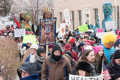 Women's March on Washington - Santa Fe (D Allen Johnson Photography) Tags: mew mexico santa fe county state capitol roundhouse round house march demonstration expression signs people woman rally free freedom speach first 1st constitution social condition rights gay female health care choice choose amendment gathering equal equality president donald trump fight against