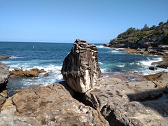 Misplaced Rock (mattlevine17) Tags: bondi beach boulder waves rock shore coral