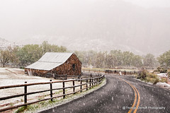 Giffford Barn Capital Reef National Park (Thomas DeHoff) Tags: utah snow gifford barn fruita sony a700