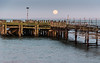 DSE_7410 (alfiow) Tags: fullmoon moonset pier totland
