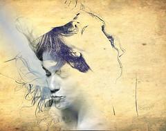 Viatge a cegues. Viaje a ciegas. To travel blind. (ibethmuttis) Tags: draw woman conceptual journey