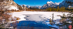 Beautiful day out in the mountains (Kasia Sokulska (KasiaBasic)) Tags: fujix canada alberta banffnp vermilionlakes lake mountains rockies frozen landscape