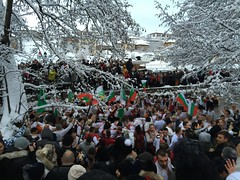 Crazy😬❄️❄️❄️❄️❄️ Large Group Of People Real People Crowd Women Tree Men Building Exterior Day Outdoors People Winter Horo Tradition Male Horo Weather Bulgaria Kalofer