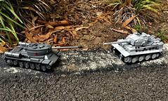 Nemeses (Lego Admiral) Tags: ww2 wwii german russian tanks is2 tiger