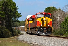The day after the holiday shut down we see extra train FEC 141 running through the S curve at the south end of Magnolia as it begins its journey south with traffic from NS 209, NS 285, and NS 64Q (MrRailfan) Tags: fec extra 141 florida east coast ge gevo magnolia auto rack freight train rr railroad