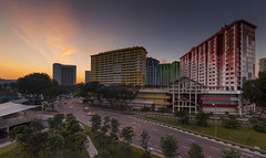 The Beginning of the End (bing dun (nitewalk)) Tags: singapore bugis rochor sunrise morning panorama hdb cityscape