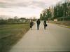 09600009 (tarteltarantel) Tags: nature walking road way people green tree dog animal