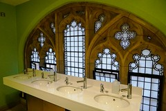 . (Brian Parkin) Tags: gents toilet washing mens facilities houses parliament sinks stone window frame gothic