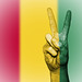 Peace Symbol with National Flag of Guinea