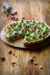 Wild Strawberry & Pistachio Tart (Мiuda) Tags: background baking beautiful berries brown buds butter buttercream cake celebrate confiture contemporary cut delicious dessert dough dried easter filling flowers food french frosting gourmet green holiday homemade inside jam mousseline paste pie piece pink pistachio puff red romantic rose rustic slice strawberry sugar table tart tea vintage wild wildstrawberries wooden foodphotography foodphoto foodblogger foodblog foodphotographer stilllife canon