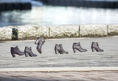shoes (beelzebub2011) Tags: canada britishcolumbia vancouver coalharbor seawall shoes boots multipleexposure