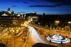 Cibeles (R. Blanco Cantero) Tags: madrid comunidaddemadrid cibeles plazadecibeles ayuntamiento callealcalá españa spain mirador terraza anochecer