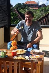 tom at sadru bungalow ubud bali having breakfast 23feb2017 (chrisandrew314) Tags: bali sadu ubud breakfast