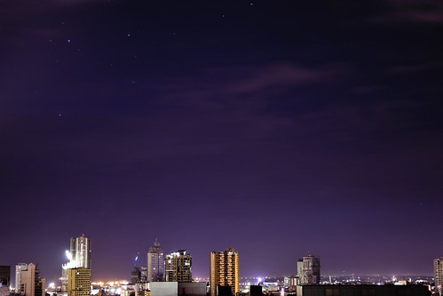 Southern Cross over Cebu City