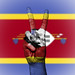 Peace Symbol with National Flag of Swaziland