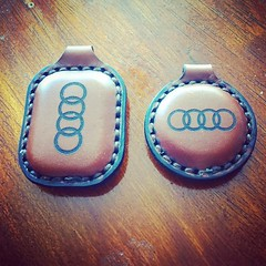 #audi #leather #keychain (tovlade) Tags: face mask cyberpunk cyber goth make up goggles girl punk postapocalyptic postapocalypse black steampunk leather hand made larp cybergoth dieselpunk plague doctor