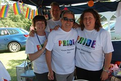 """Pride in Plymouth stall team ready for a busy day at Plymouth Pride 2015 - Plymouth Hoe • <a style=""""font-size:0.8em;"""" href=""""http://www.flickr.com/photos/66700933@N06/20443779769/"""" target=""""_blank"""">View on Flickr</a>"""