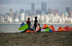 Off In The Distance (Clayton Perry Photoworks) Tags: summer people canada beach skyline vancouver bc wind spanishbanks kitesailing explorebc explorecanada vancitybuzz
