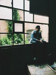 Smoking Window (belenruizr) Tags: boy broken window glass smoke smoking siluette siluete