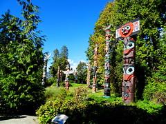 Totem poles in Stanley Park, Vancouver, BC, Canada (peggyhr) Tags: trees canada vancouver bc stanleypark totempoles peggyhr dsc09951a