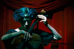 heyr himnasmiur (gh0stdot) Tags: portrait music london club canon stage cello nightlife cabaret performer bethnalgreen davidlynch 60d bestviewedonamac doublerclub