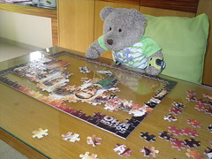 """""""Doing well!"""" (pefkosmad) Tags: show bear ted television fun toy tv stuffed play teddy puzzle entertainment softie doctorwho plushie scifi leisure sciencefiction jigsaw pastime programme childrenstelevision tedricstudmuffin tedscheekygreekyweeky"""