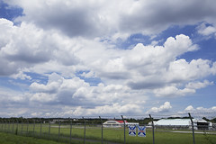 A SMALL AIRPORT, SOME PARKS AND CLOUDS - II (Jussi Salmiakkinen (JUNJI SUDA)) Tags: summer sky japan clouds airplane landscape tokyo airport woods parks     chofu