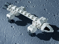 EAGLE 03 LEGO ((K_A) King_Arthur) Tags: show moon lune one tv noir lego eagle space 1999 modular scifi spaceship alpha moonbase ideas cosmos spacecraft transporter aigle