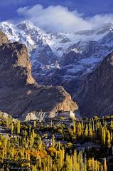 Baltit Fort, Hunza (Shehzaad Maroof Khan) Tags: morning november autumn pakistan mountain snow golden fort valley karakoram hunza sar goldenhour ultar baltit ultarsar gilgitbaltistan