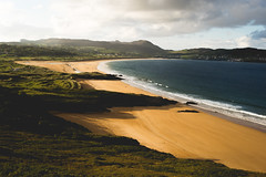 Donegal (buhamdi) Tags: ocean travel blue ireland light sunset sea sky mountain seascape mountains green beach nature colors beautiful beauty clouds landscape 50mm nikon view hiking hike cliffs northern donegal goldenhour d600