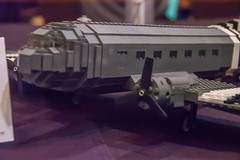 Douglas C-47A Skytrain transport (SEdmison) Tags: california lego military convention santaclara douglas skytrain dc3 c47a bricksbythebay bricksbythebay2015
