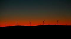 Brown Hill Windfarm Dusk (Darren Schiller) Tags: sunset landscape energy dusk southaustralia jamestown windfarm midnorthsouthaustralia