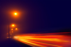 Foggy (Gert-Jan Mes) Tags: light mist cars misty fog foggy headlights streaks carheadlights
