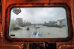 View from the bridge of HMS Belfast (Erelster) Tags: uk windows winter light england rain thames nikon gun ship wwii belfast frame cannon ww2 cruiser warship hms d90