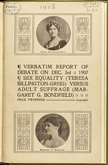 Verbatim debate on suffrage and equality, 1907.