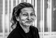 Smiling woman- happy people (mare_maris (very slow)) Tags: poverty life street old portrait people urban woman cute beauty smile face lines smiling closeup lady female mouth outdoors nose happy person see eyes mediterranean gloomy view adult emotion bright head details poor vivid content icon crack explore greece human age experience friendly dimples aged concept rough wisdom past citizen wrinkles facial rugged engraved eyelids wrinkled wrinkly pireaus tellmeastory   emotionalportrait strongcharacter streetportait     nikond5100 theothereurope maremaris maturityelderly