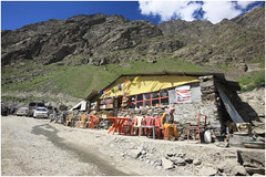 "India Travel Photography ""Road Restaurant near Keylong"" Himachal Pradesh.128 by Hans Hendriksen (Travel Photography - Reisfotografie) Tags: voyage travel india mountain nature berg river landscape temple photography gold photo foto view buddha religion natur north pass culture natuur monk buddhism glacier holy monastery monks valley zanskar lama farmer kashmir bergen agriculture himalaya landschaft ferien manali himachal indus nord klooster kloster dharamsala jammu dalai chandra landschap cultuur pradesh noord rohtang monch daramsala monnik religie boeddha keylong baralacha sarchu daramshala namgyal reisefotografie boeddhisme baijnath reisebilder zangla reisfotografie reisfoto индии химачалпрадеш"