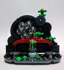 LEGO Abandoned Theatre (wesleyobryan) Tags: city abandoned overgrown lego theatre lounge vignette apocalego