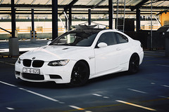 Soft skin like Snow , Savage heart like a Beast (Mohammed M.Suliman ( )) Tags: auto white cars car speed bmw m3 m4