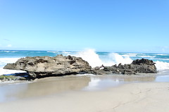 12140104 (markdanze) Tags: ocean cliff beach lava rocks break dominicanrepublic shore sosua