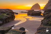 Kiwanda Sunset (Chris Ross Photography) Tags: kiwanda oregon beach pacific sunset haystack rock yellow orange nikon d700