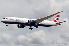 British Airways Boeing 787-9 Dreamliner |  G-ZBKB  | London Heathrow - EGLL (Melvin Debono) Tags: british airways boeing 7879 dreamliner | gzbkb london heathrow egll melvin debono spotting airport airplane aircraft aviation plane planes uk kingdom canon 600d 7d