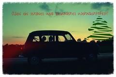 Renault R4 (sonjasfotos) Tags: renault r4 quatrelle sonnenuntergang sunset light licht shadow schatten canon abend oldtimer youngtimer classiccar vintage tochter kind child daughter familie family