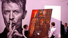 bowie auction in london - jean michel basquiat painting (mike.esson) Tags: davidbowie artist auction bowie jeanmichelbasquiat basquiat sothebys