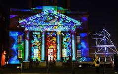 Albertdock illumination (paul hitchmough photography) Tags: artinstllation festiveseason nikond800 rivermersey liverpool albertdock colours nightphotography paulhitchmoughphotography lightshow illumination